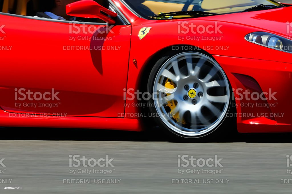 Ferrari F430 detail stock photo