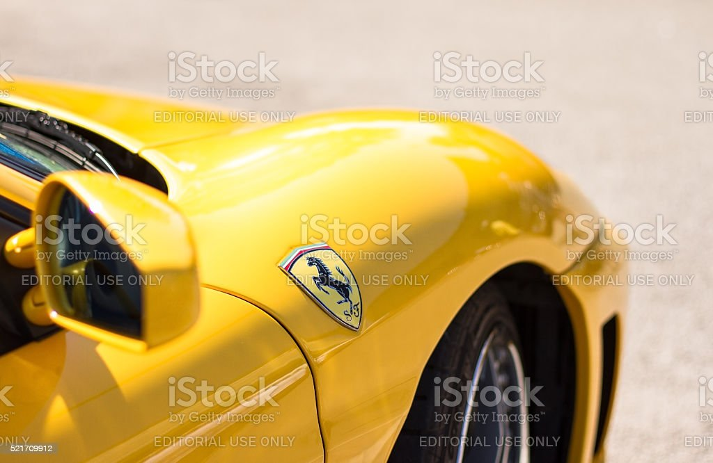 Ferrari F430 detail stock photo