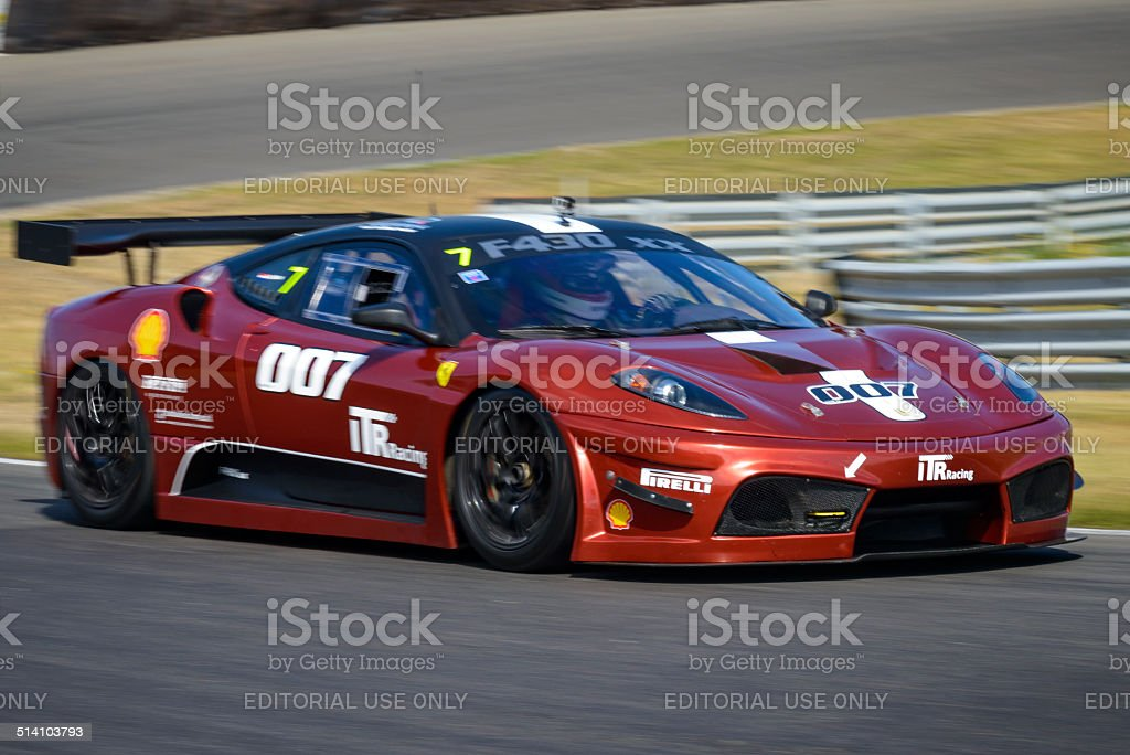 Ferrari F430 FXX race car at the race track stock photo
