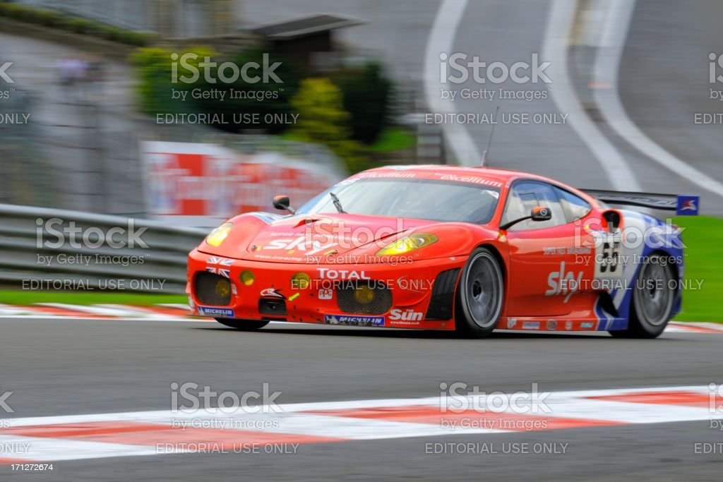Ferrari F430 GT race car at the race track stock photo