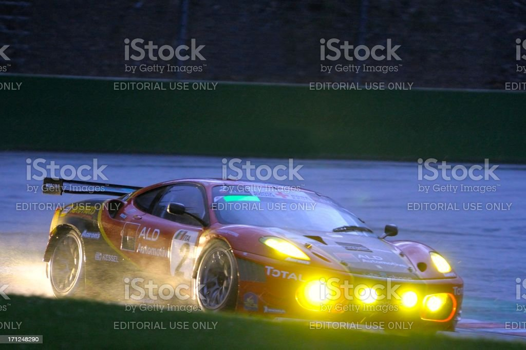 Ferrari F430 GT race car at the Spa racing track stock photo