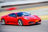 Ferrari F430 Scuderia Italian V8 sports car driving fast