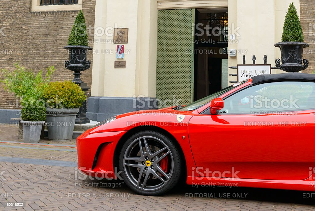 Ferrari F430 Spider sports car stock photo
