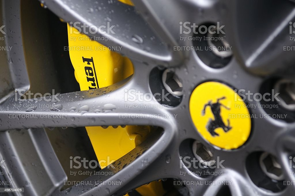 Ferrari F430 wheel stock photo