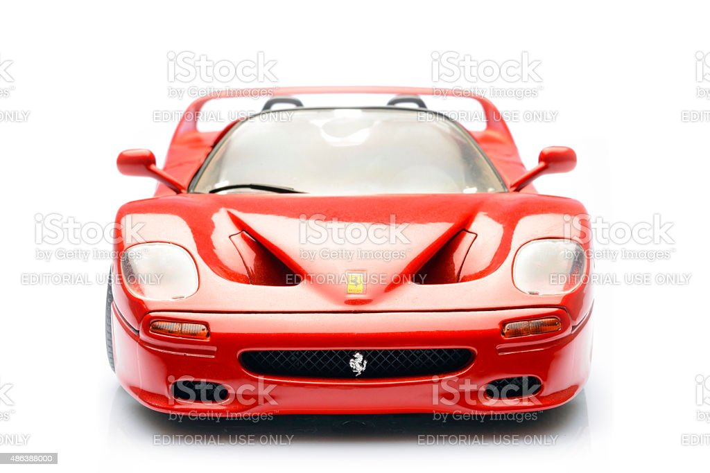 Ferrari F50 supercar scale model front view stock photo