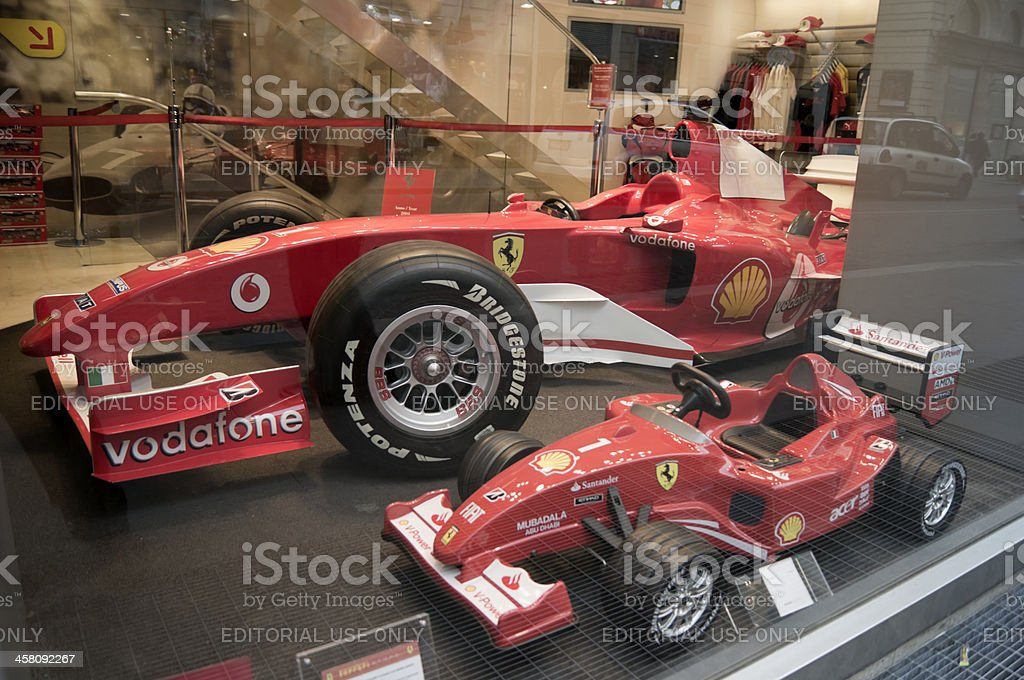 Ferrari Formula One model cars stock photo
