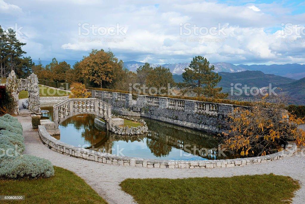 Ferrari Garden stock photo