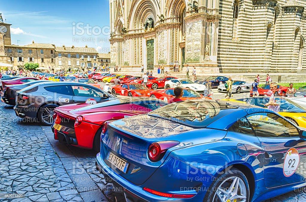 Ferrari Gathering stock photo