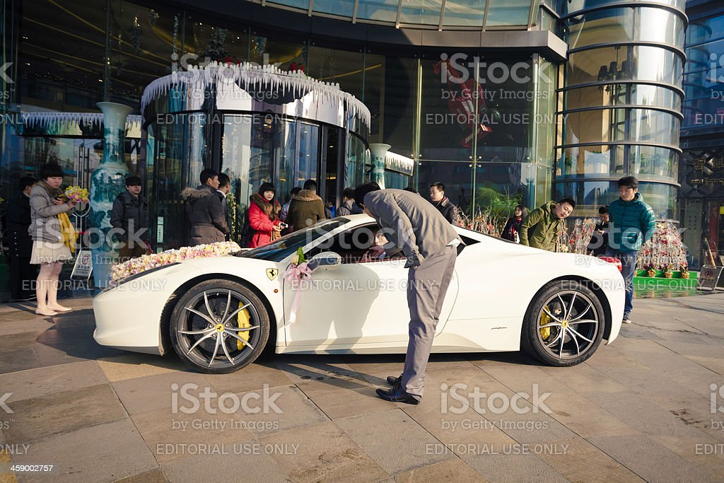 Ferrari in china royalty-free stock photo