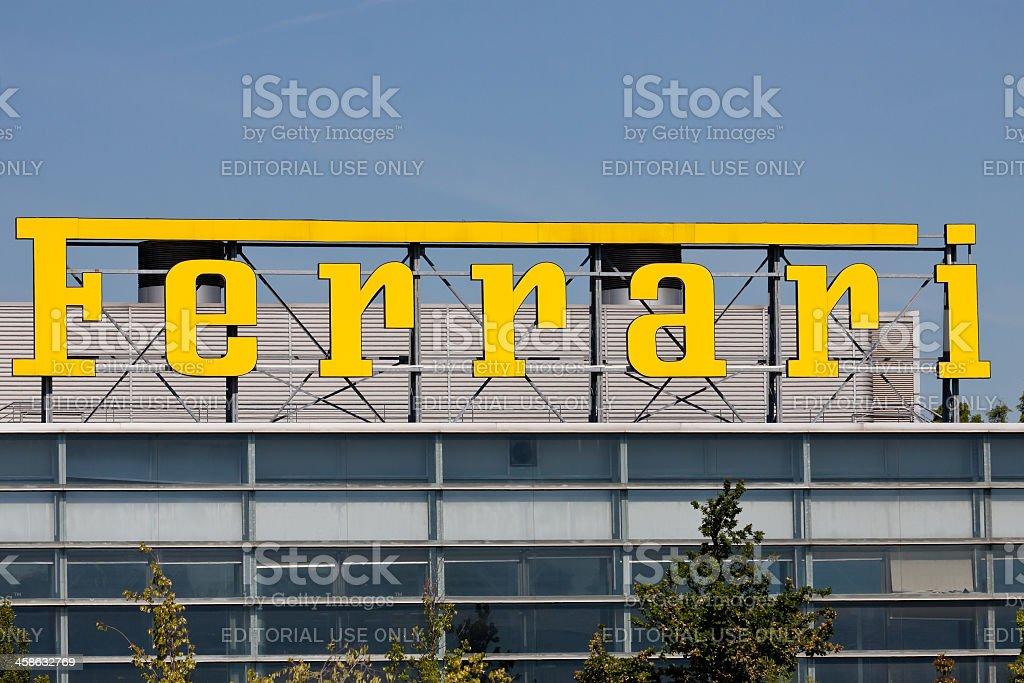 Ferrari logo stock photo