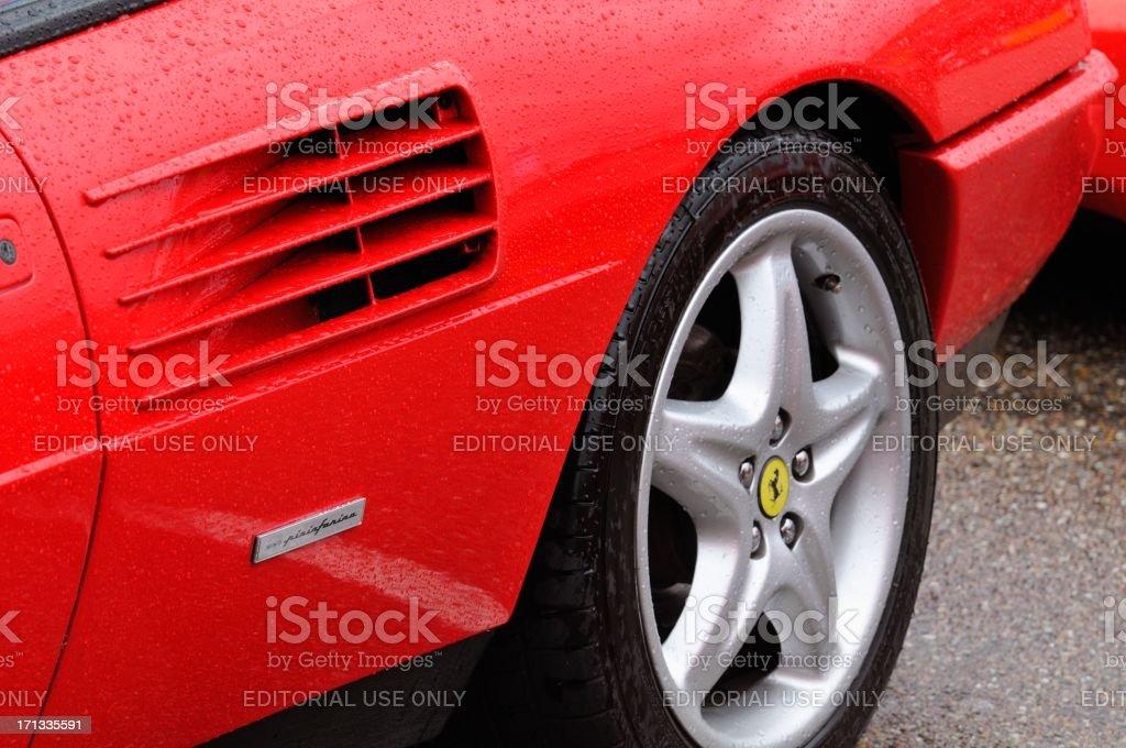 Ferrari Mondial detail stock photo