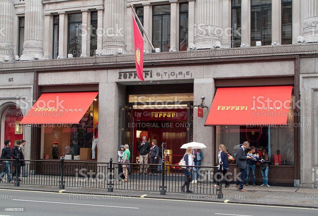 Ferrari Store in London royalty-free stock photo