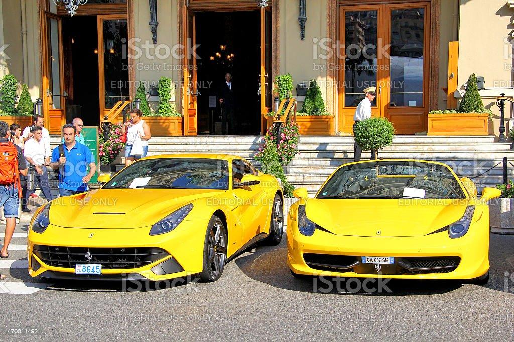 Ferrari supercars stock photo