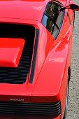 Ferrari Testarossa Italian sports car rear view