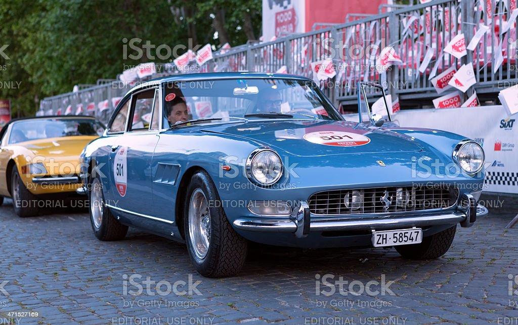 Ferrari Tribute at Mille Miglia 2013 royalty-free stock photo