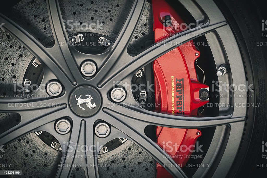 Ferrari wheel stock photo