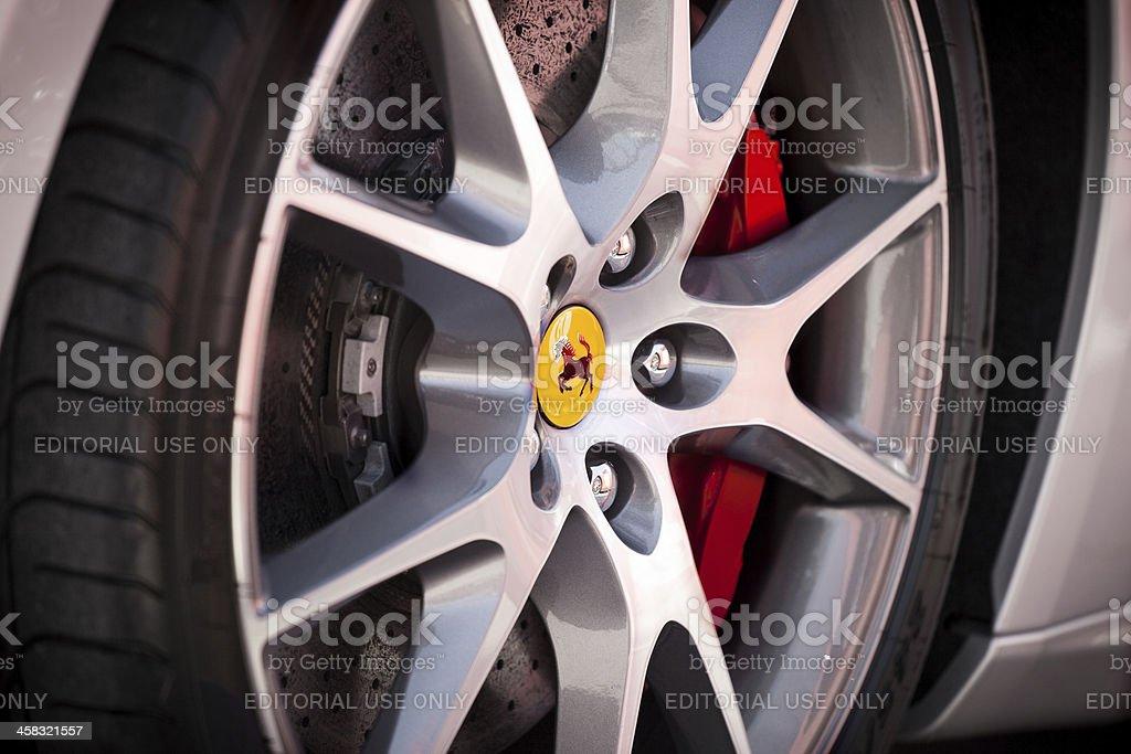 Ferrari wheel royalty-free stock photo