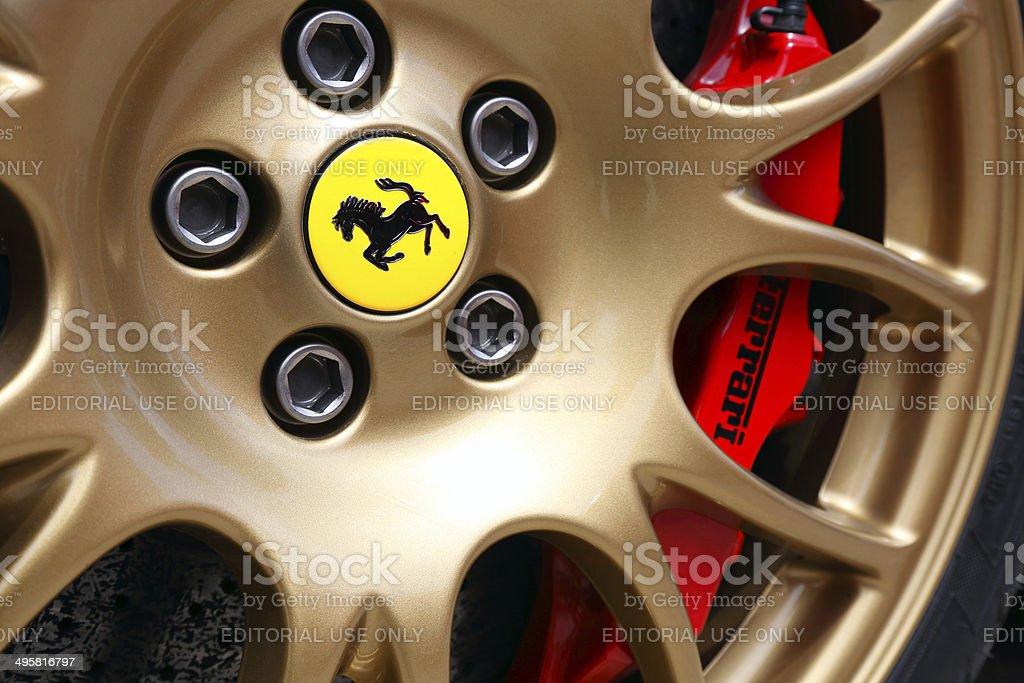 Ferrari wheel stock photo