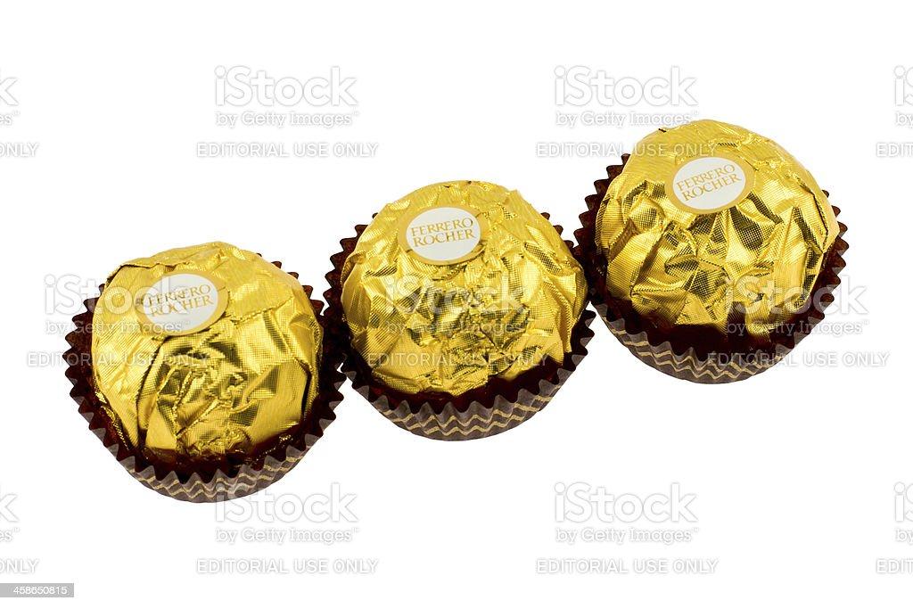 Ferrero Rocher Chocolate stock photo
