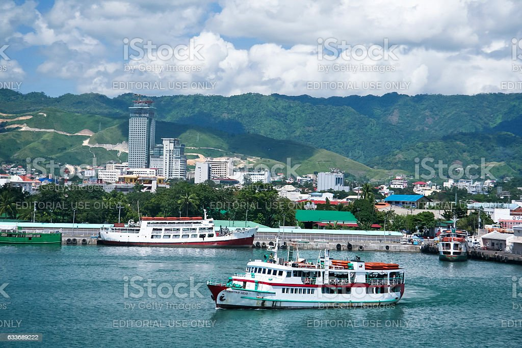 ferries at port of cebu seaport philippines royalty-free stock photo