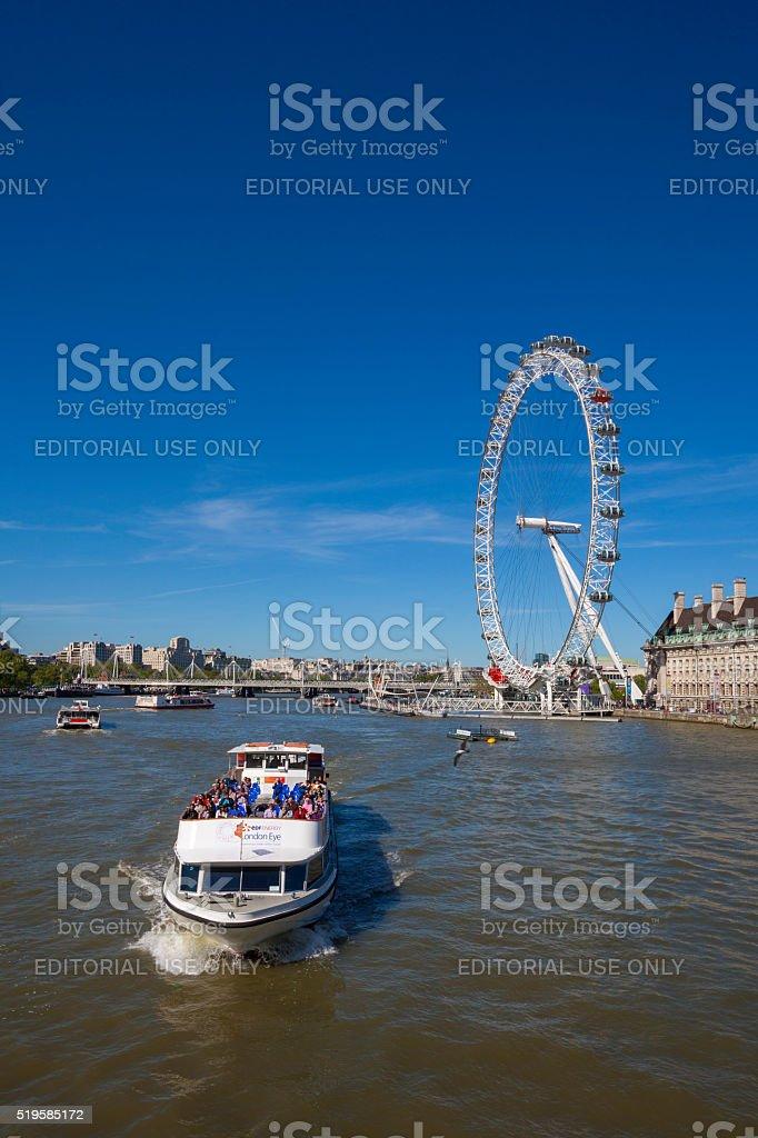 Ferries in London, United Kingdom stock photo