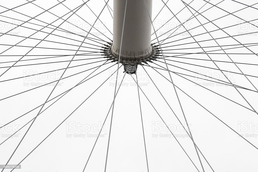 Ferris Wheel, abstract detail stock photo