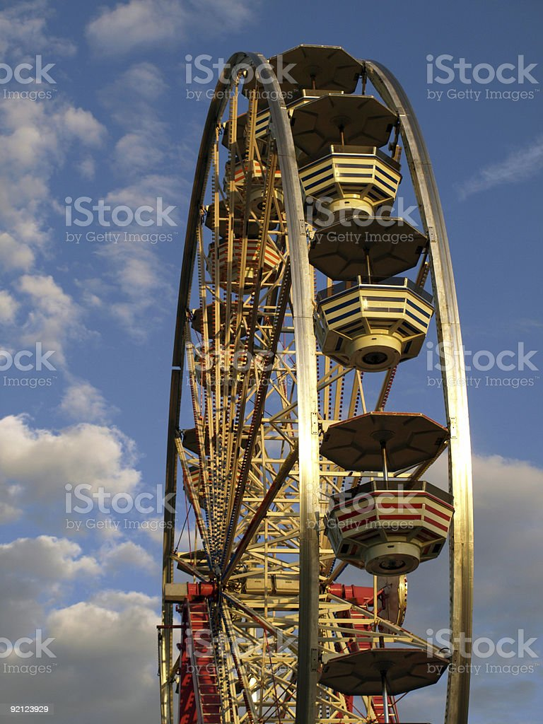 Ferris wheel against beautiful sky royalty-free stock photo