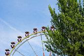 Ferris wheel against blue sky in Odessa, Ukraine