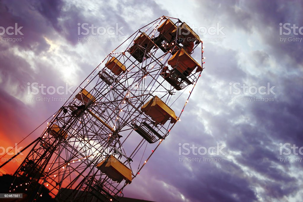 Ferris Wheel against Clouds royalty-free stock photo