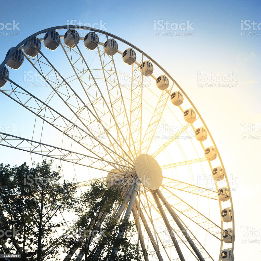 ferris wheel against stock photo