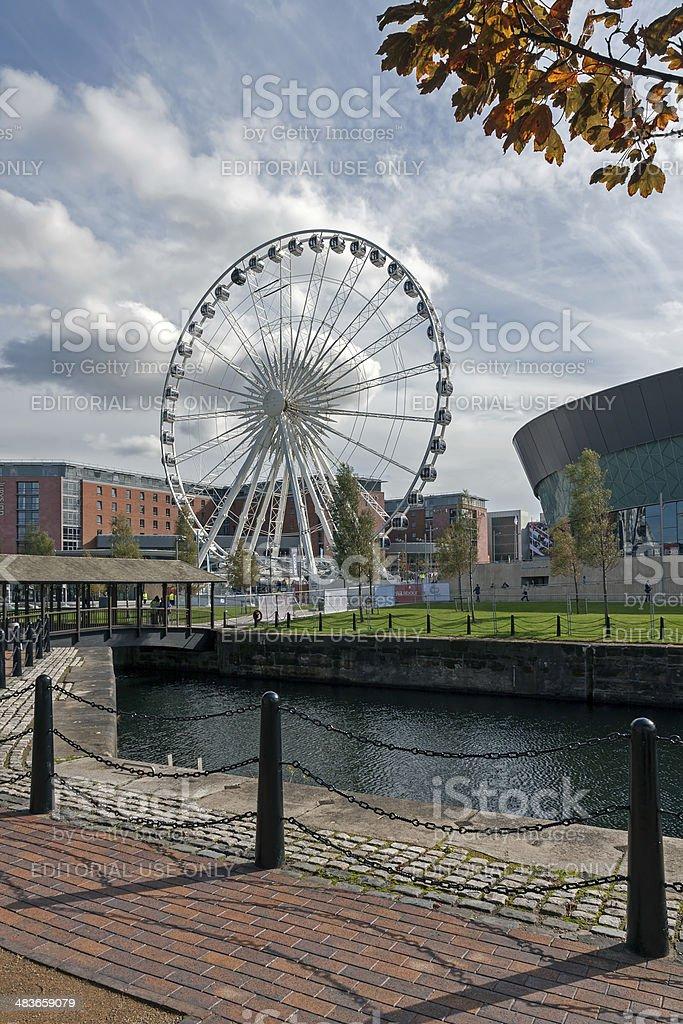 Ferris wheel, Albert Dock, Liverpool royalty-free stock photo