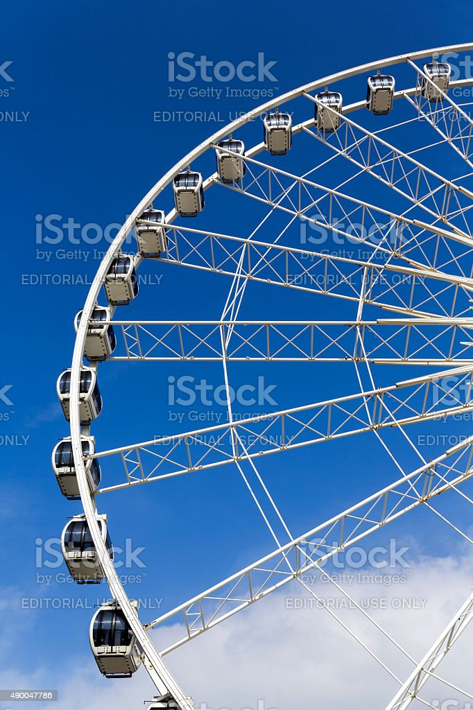 Ferris Wheel Albert Dock Liverpool stock photo