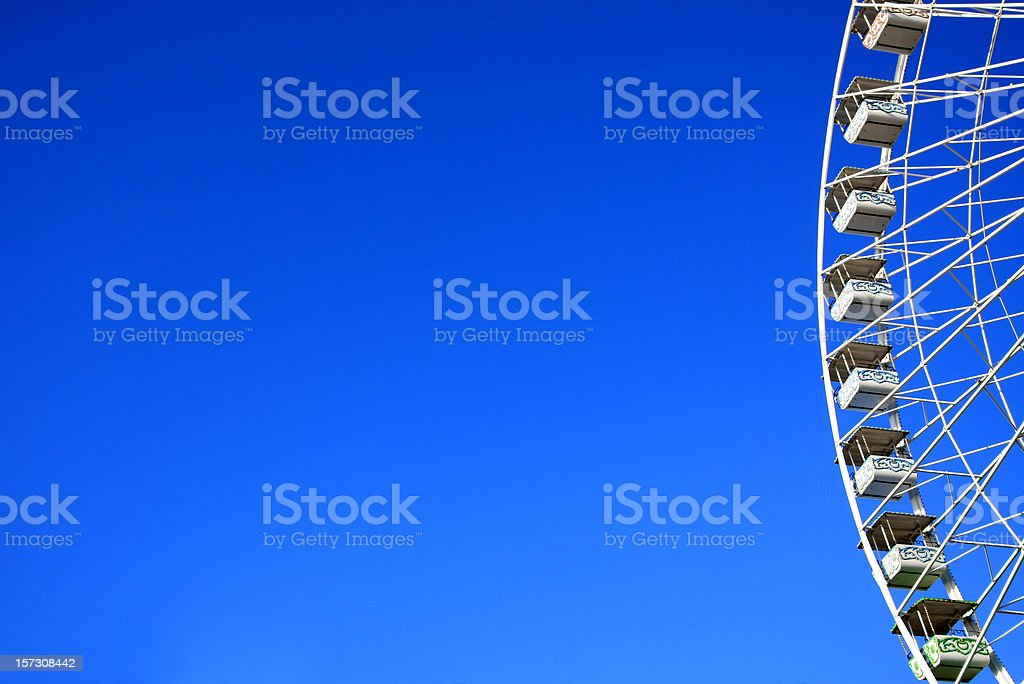Ferris wheel and room for your copy royalty-free stock photo