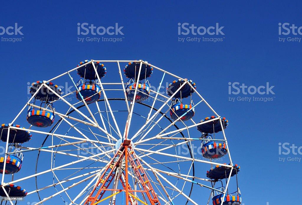 Ferris Wheel and sky stock photo