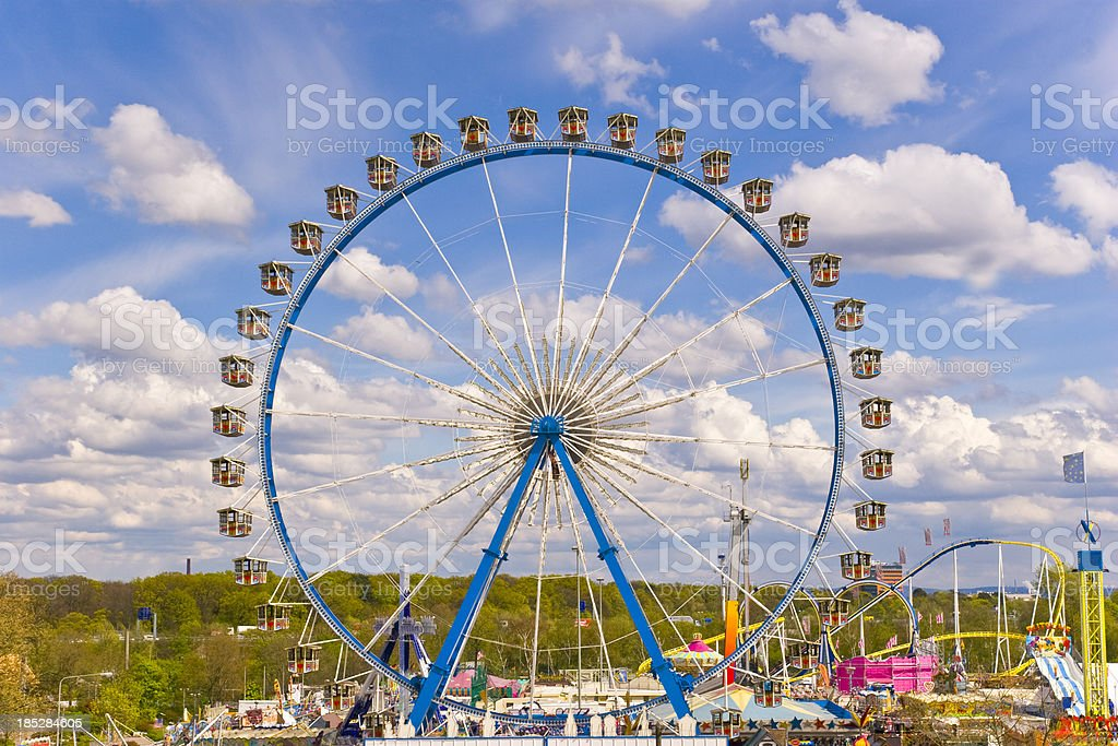 Ferris Wheel at a Amusement Park stock photo