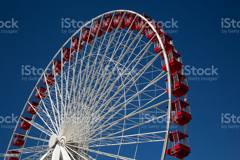 Ferris Wheel at Carnival Fair on Navy Pier Chicago stock photo