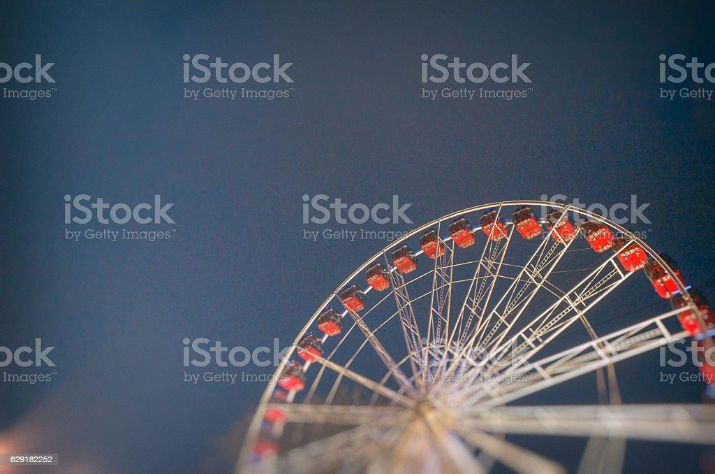 Ferris Wheel at Christmas and Hogmanay in Edinburgh City Centre stock photo