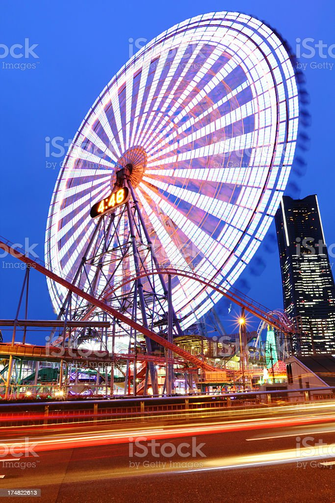 Ferris Wheel at dusk royalty-free stock photo