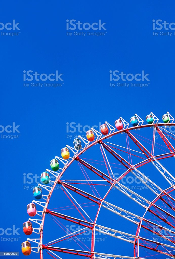 Ferris wheel at fine day royalty-free stock photo