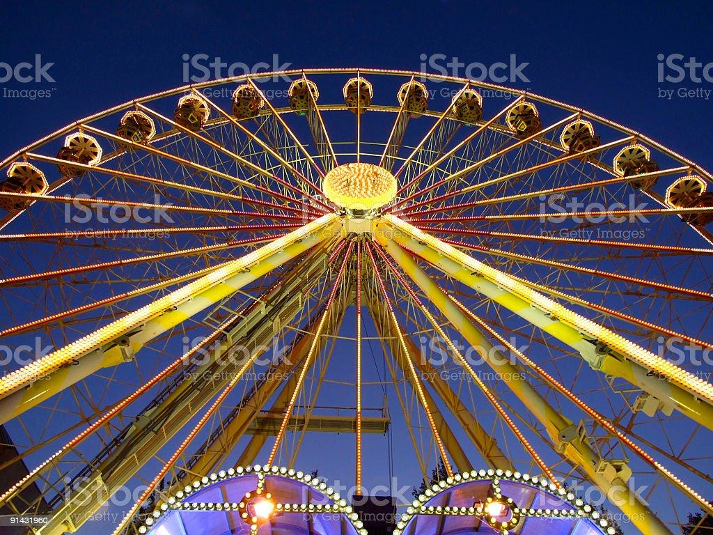 ferris Wheel at night royalty-free stock photo