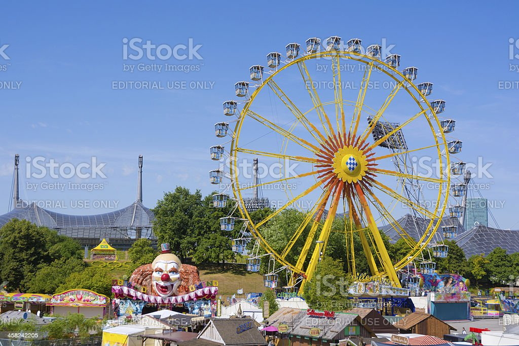 Ferris wheel at Olympic Park in Munich, Germany royalty-free stock photo