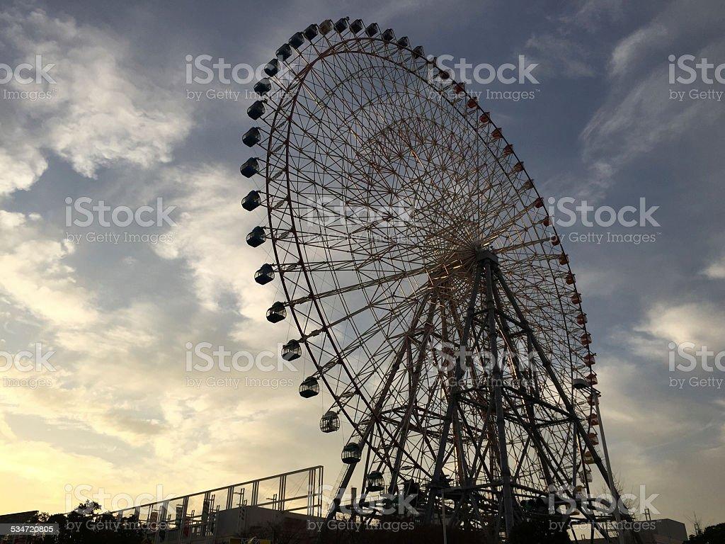 Ferris Wheel at Osaka stock photo