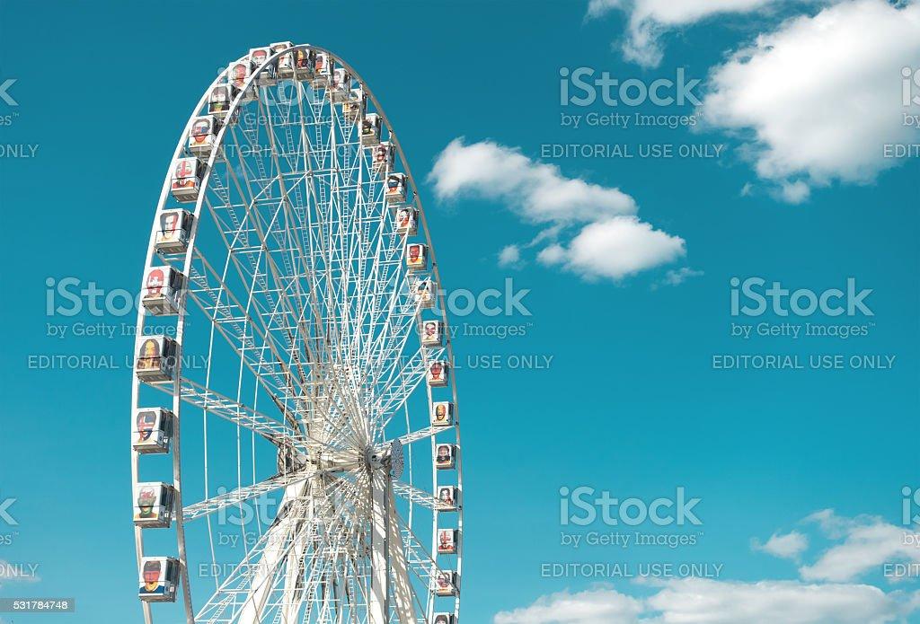 Ferris Wheel at Place de la Concorde in Paris stock photo
