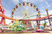 Ferris wheel at Santa Monica Pier at Pacific Amusement Park