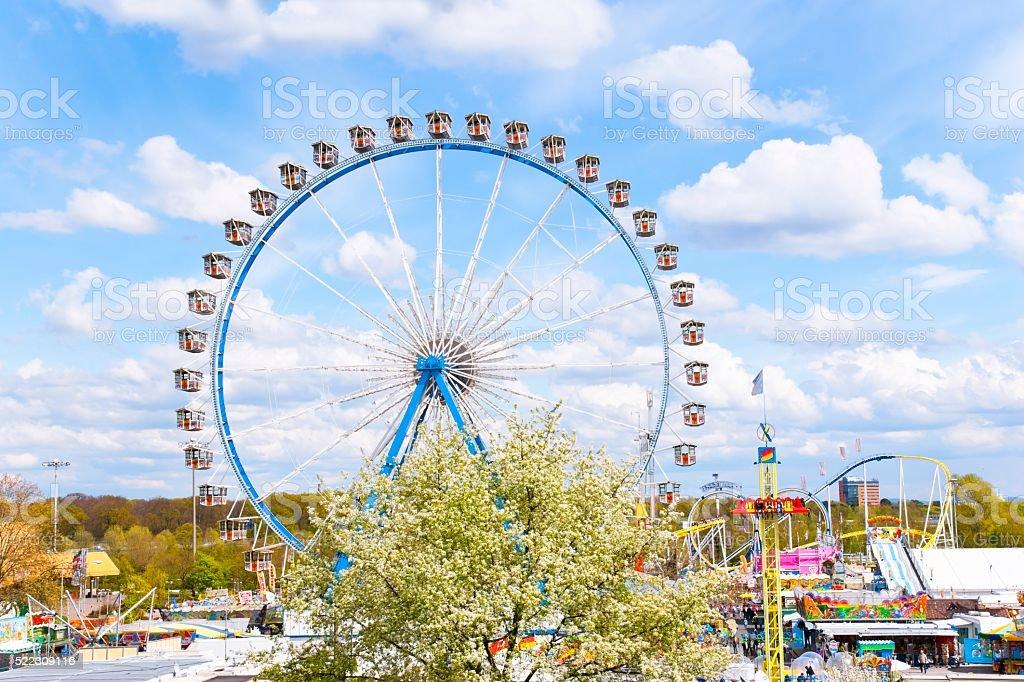 Ferris Wheel at Spring Fair stock photo