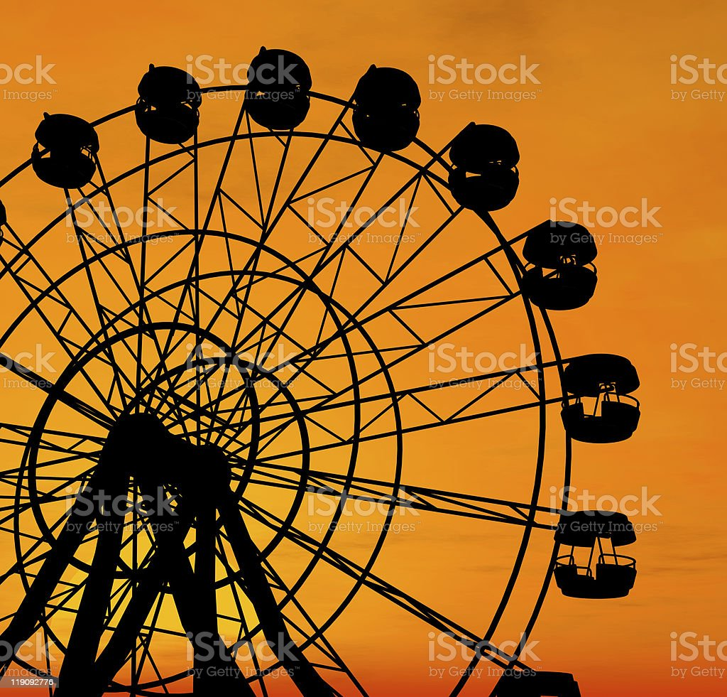 Ferris wheel at sunset. royalty-free stock photo