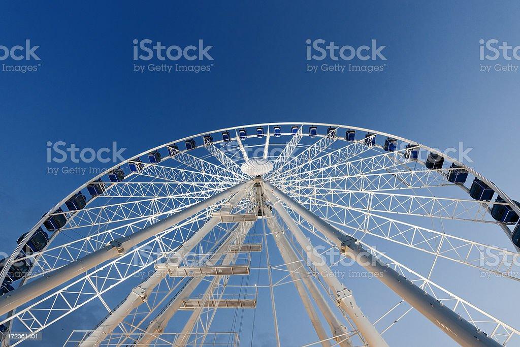ferris wheel at sunset stock photo