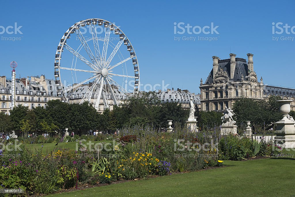 Ferris Wheel at the Louvre stock photo