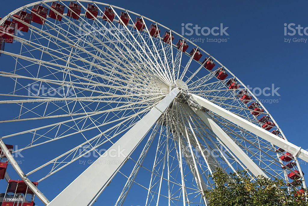 Ferris Wheel at the Navy Pier in Chicago royalty-free stock photo