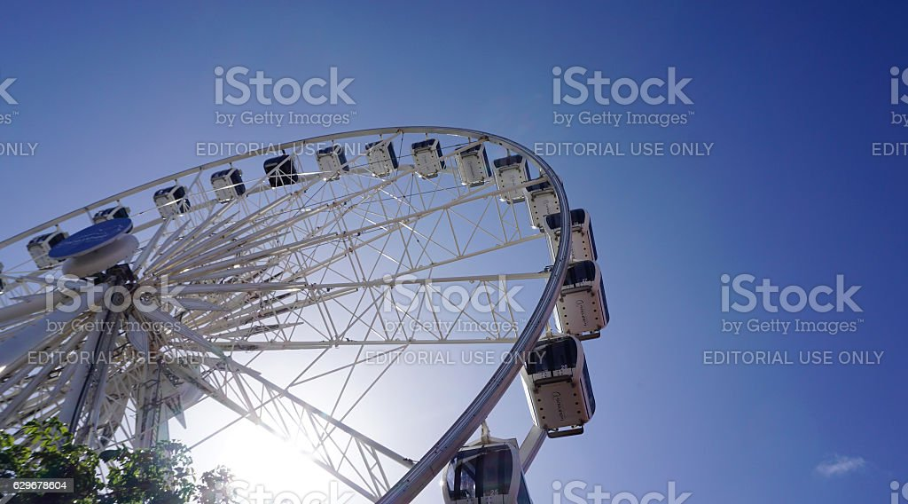 Ferris Wheel at the Victoria and Albert Waterfront stock photo